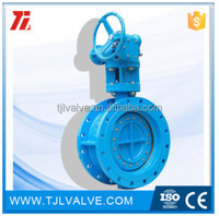 double eccentric rubber sealing gear operated wafer type butterfly valve din/ansi wras cert