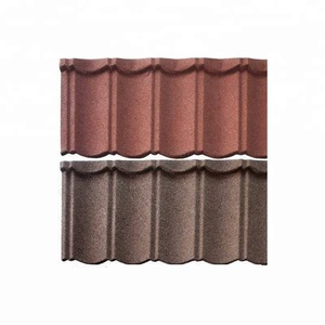 Stone Coated Steel Roofing Ridge Cap Terracotta Metal Roof Tile