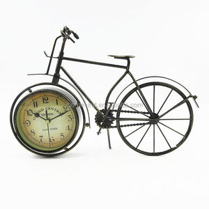bicycle shaped antique mechanical table clock for gift