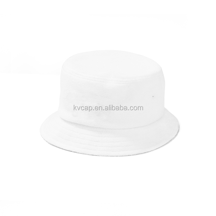 d513a920267 Guangzhou China custom hot sale plain blank girls women wearing terry towel bucket  hat