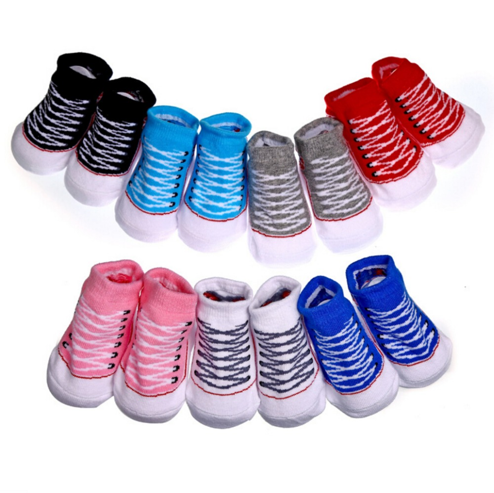 Infant Girl Socks That Look Like Shoes