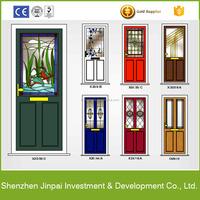 aluminum half glass door design and window for office