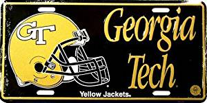 America sports Georgia Tech [helmet] Yellow Jackets - College LICENSE PLATES