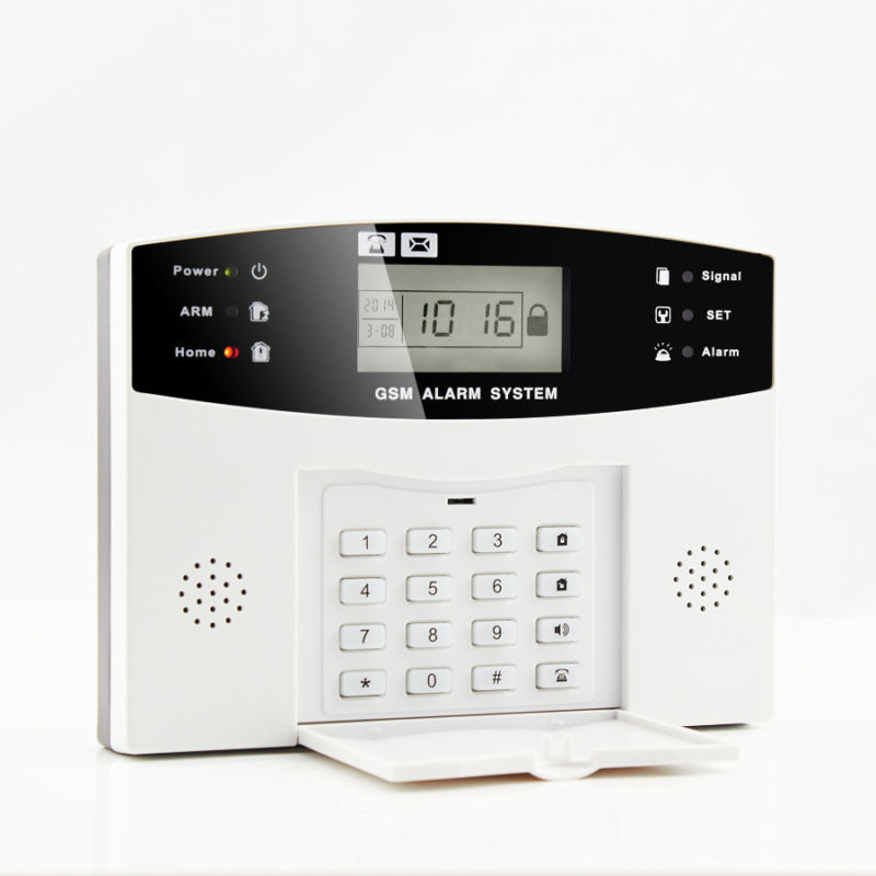 GSM SMS Wireless Wired Home Security Fire Alarm System supports 3G sim card