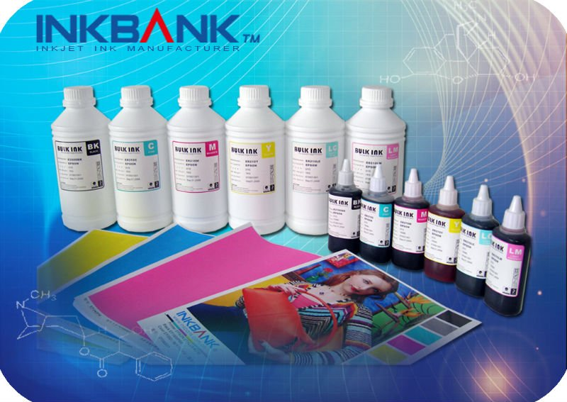 Newest 6 color pigment ink for epson IC50 printer series and the effect close to the original