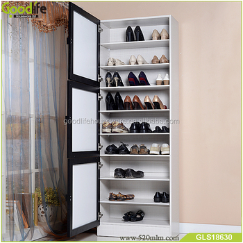 180cm Tall Shoe Cabinet Wooden Shoe Rack For Variety Size ...