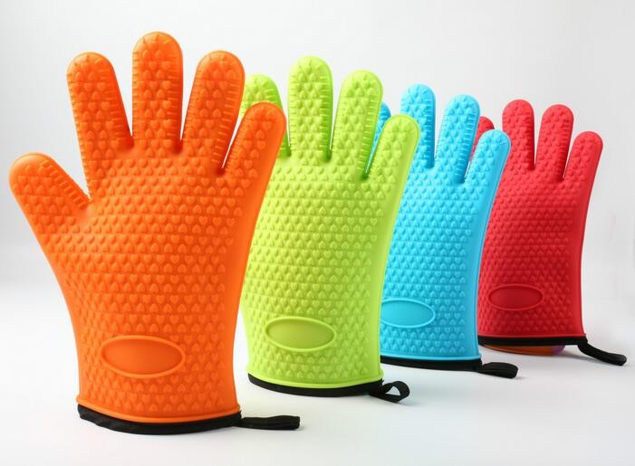 Silicone Cotton Gloves Heat Resistant Oven Mitt For