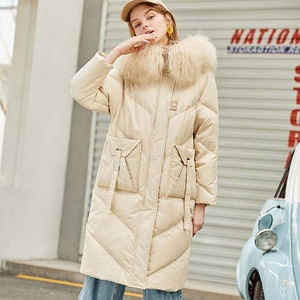 Fashion White Jacket Woman Duck Down Coat With Hood