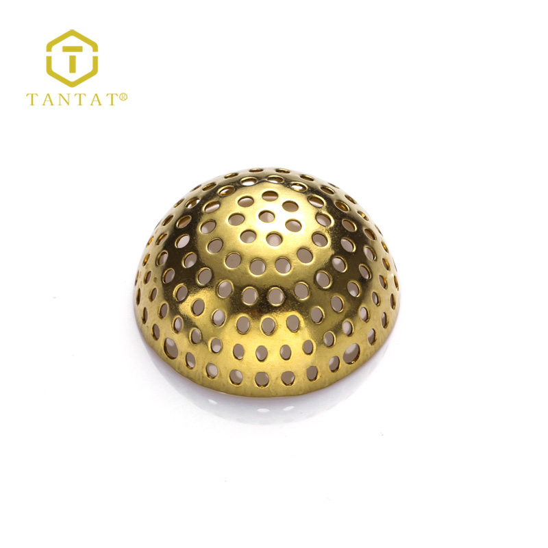 Metal Gold Filled Disc Plate With Filigree Net Design Jewelry Accessories