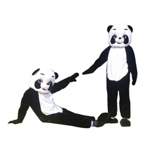 Hot sale adult panda <span class=keywords><strong>mascotte</strong></span> vakantie kostuum voor party show