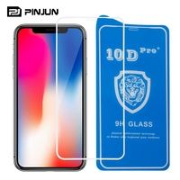 High quality anti-shock 9H Hard 10D silk printing glass full glue coverage tempered glass film guard for iPhone X screen protect