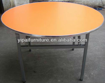 8 Person Used Simple Stytle Round Table Top Folding Yt1