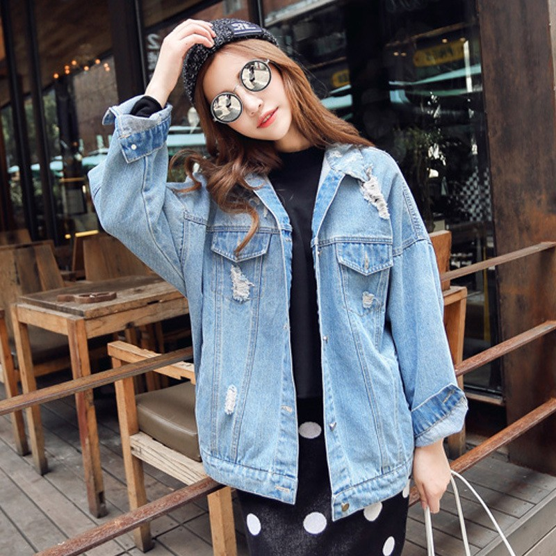 09259b30140f Wholesale 2016 New Brand Oversized Denim Jacket Women Plus Size ...