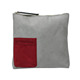 Grey small custom canvas zipper pouch cheap makeup bag portable makeup kit pouch