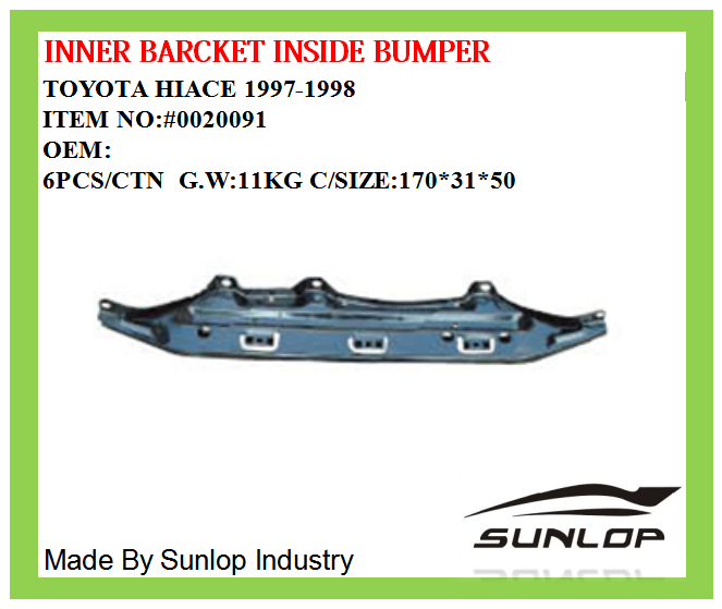 For Hiace Auto Parts Spare Parts #0020091 Inner Bracket Inside Bumper For  For Hiace 1997 Year Kdh 200 Commuter Van - Buy For Hiace Auto Parts,Inner