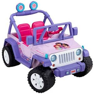 Fisher-Price Power Wheels Dora and Friends Jeep Wrangler 12-Volt Battery-Powered Ride-On / Drives on hard surfaces and grass