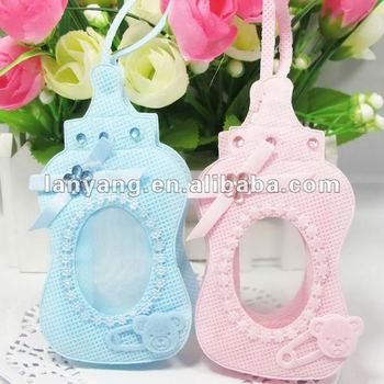 Wholesale Lovely Bottle Shaped Baby Shower Favor Gift Bags ,Baby Bottle  Favors With Rhinestone