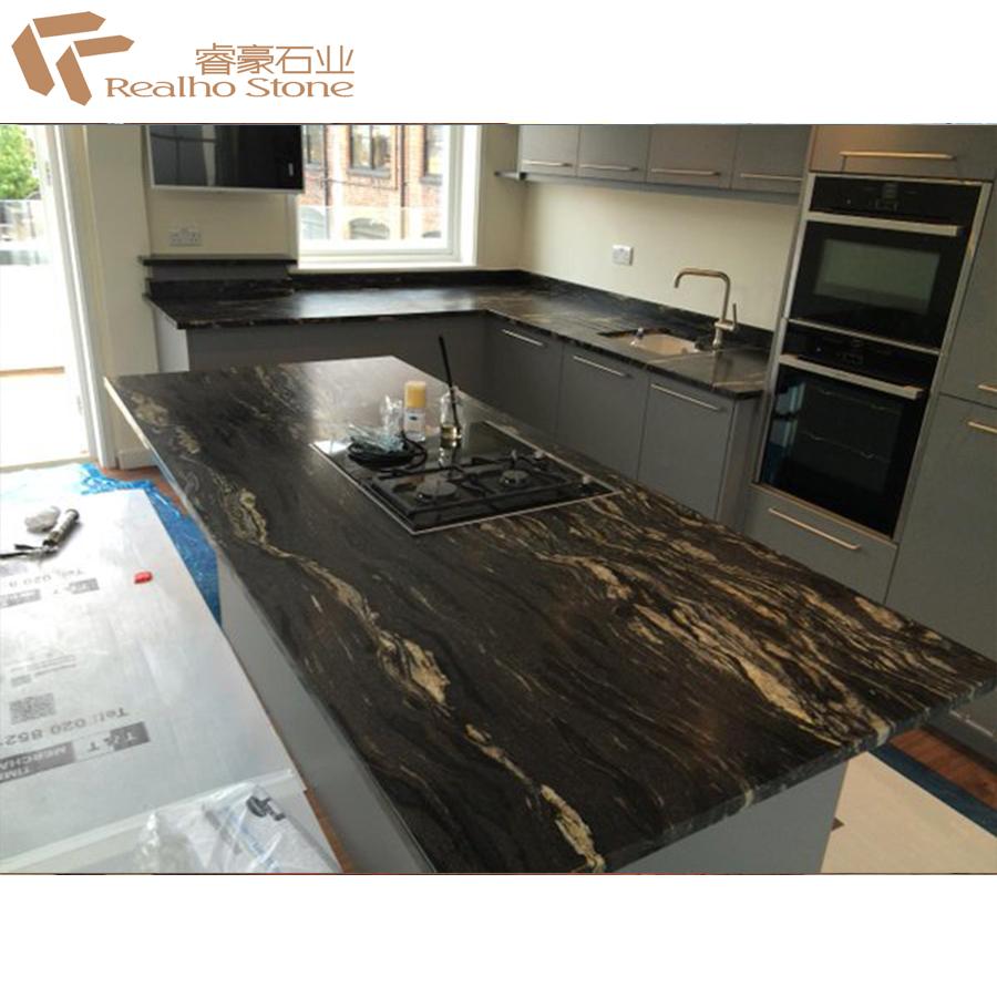 Finish Black Cosmic Granite Countertops