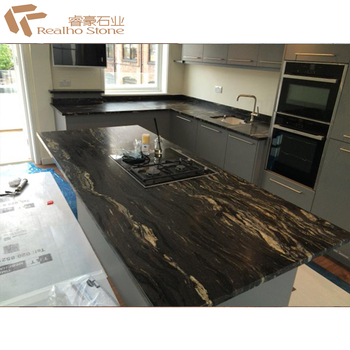 Finish Black Cosmic Granite Countertops