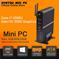 Hot Intel Core i7 Mini PC Win 10 USB 3.0 Mini Computer Intel i7 Gaming Powerful Linux Mini PC 4K Output 4096*2160 TV Box