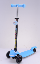 electric child three wheel mini kick scooter