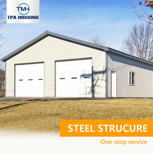 Sandwich Panel Double 2 Two Car Easy Build Kit Large Prefabricated Prefab Steel Metal Shops And Garages Buildings Kits For Sale
