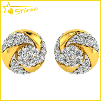 Cheap Price Yellow Gold Plated Hip Hop Men Cool Round Fashion Cz