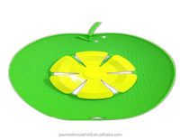 100% Food Grade Apple shape Anti overflow silicone pot cover Lid Silicone spill stopper
