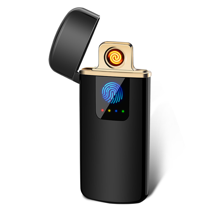 flameless rechargeable smoking windproof led laser lighter birthday gift  battery cigarette smart electronic fingerprint lighter