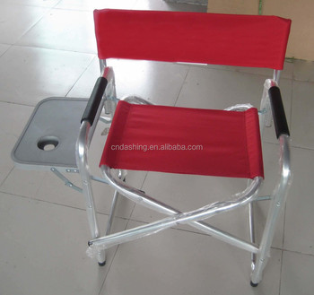 Camping Aluminium Kids Folding Director Chair With Side Table And  Costumized Logo