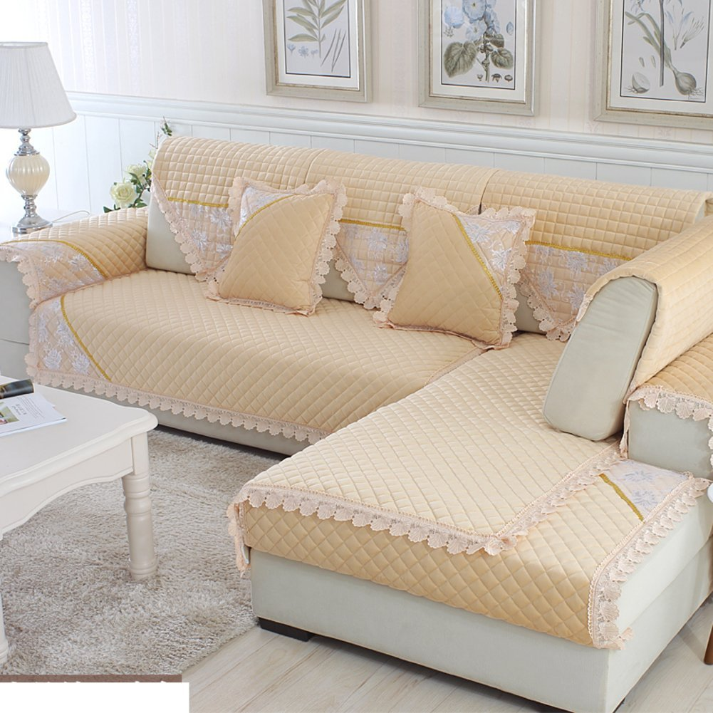 Get Quotations · Plush Sofa Cushions/Winter Padded Non Slip Leather Sofa  Towel/ Simple And Modern