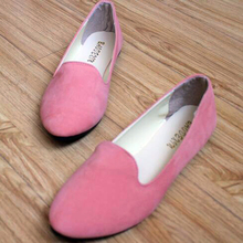 cz18045a Factory wholesale suede colorful slip on loafers plus size 43 fancy flat ladies shoes