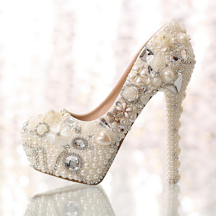 d0309d93fe8c Get Quotations · 2015 Real Photo Love Shallow White Beige Rhinestone  Wedding High Heels Sexy Women Low High Heels