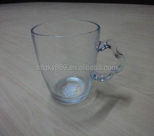 New product cup glass transparent glass mug shaped handle 310ml promotional drinkware grace tea ware
