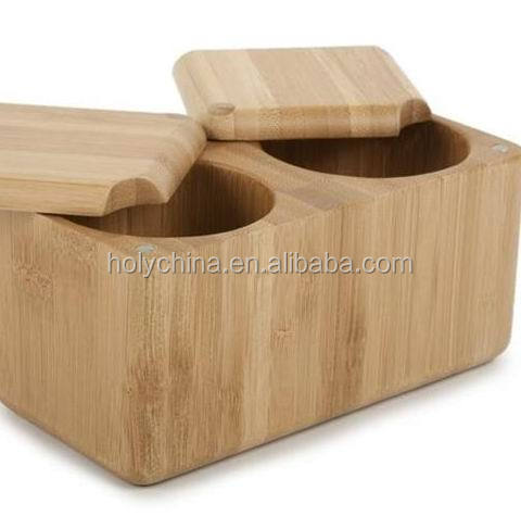 hot sale high quality bamboo salt box