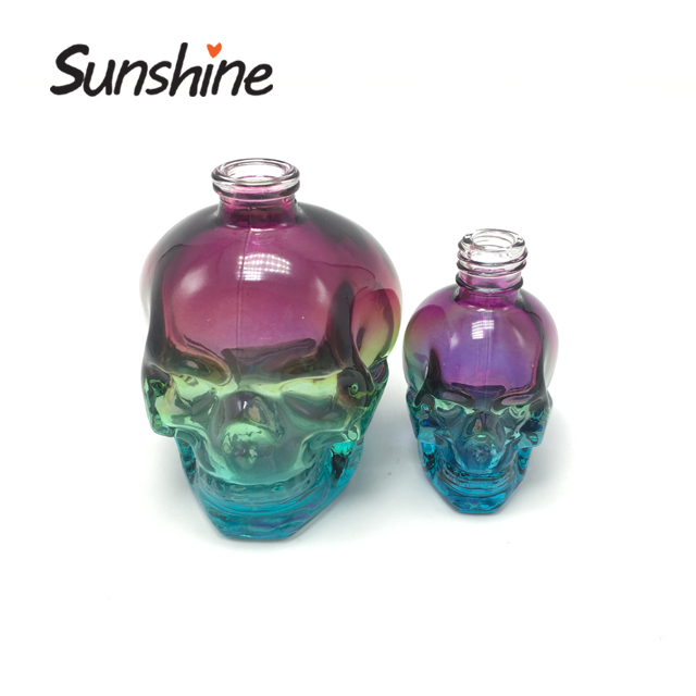 Custom unique design skull glass dropper bottle perfumes wholesale