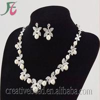 African Fashion Jewelry Sets with Rhinestone Necklace and Earring