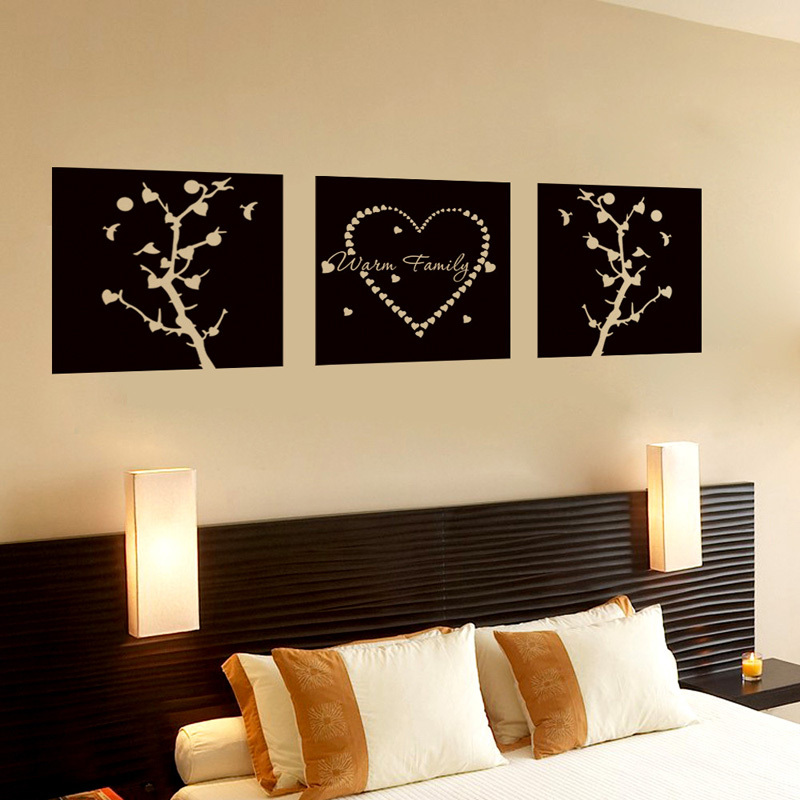 Creativity  Warm Family Tree Wall Stickers Home Decor DIY Removable Art Vinyl Wall Sticker Decals Mural Home Decoration