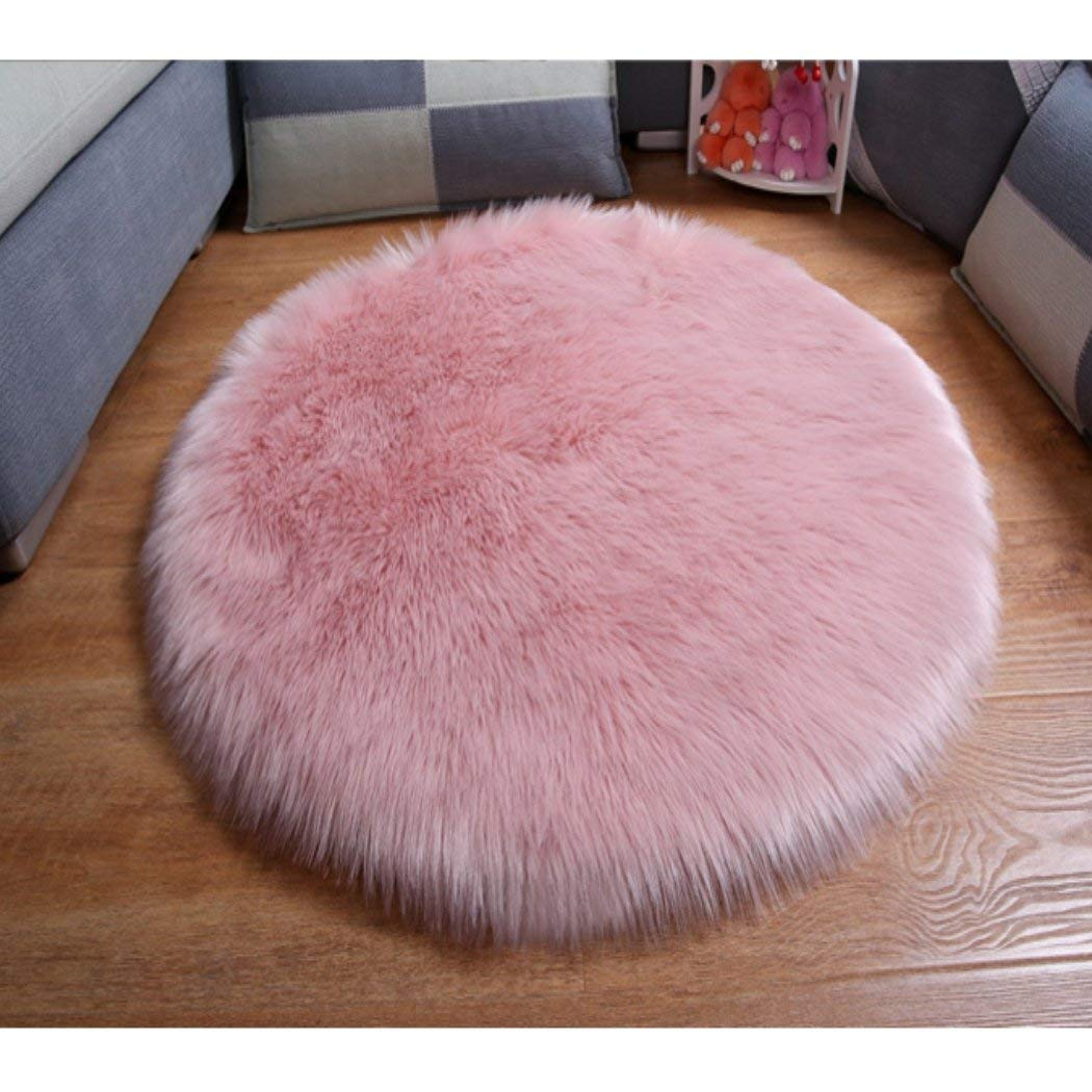 Buy Elhouse Round Mat Home Decor Faux Fur Sheepskin Rugs Kids Carpet Nursery Bedroom Fluffy Rug Shaggy Area Rug Diameter 3ft White In Cheap Price On Alibaba Com