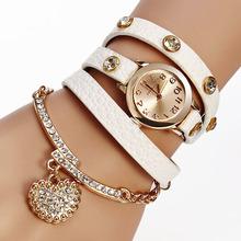Elegantní dámské hodinky s ozdobným páskem a přívěškem srdíčka z Aliexpress