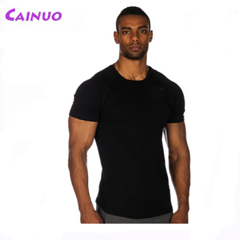 b0df7c22ff2f Running Man T-shirts Blank Muscle Fitted Gym T-shirts - Buy Muscle ...