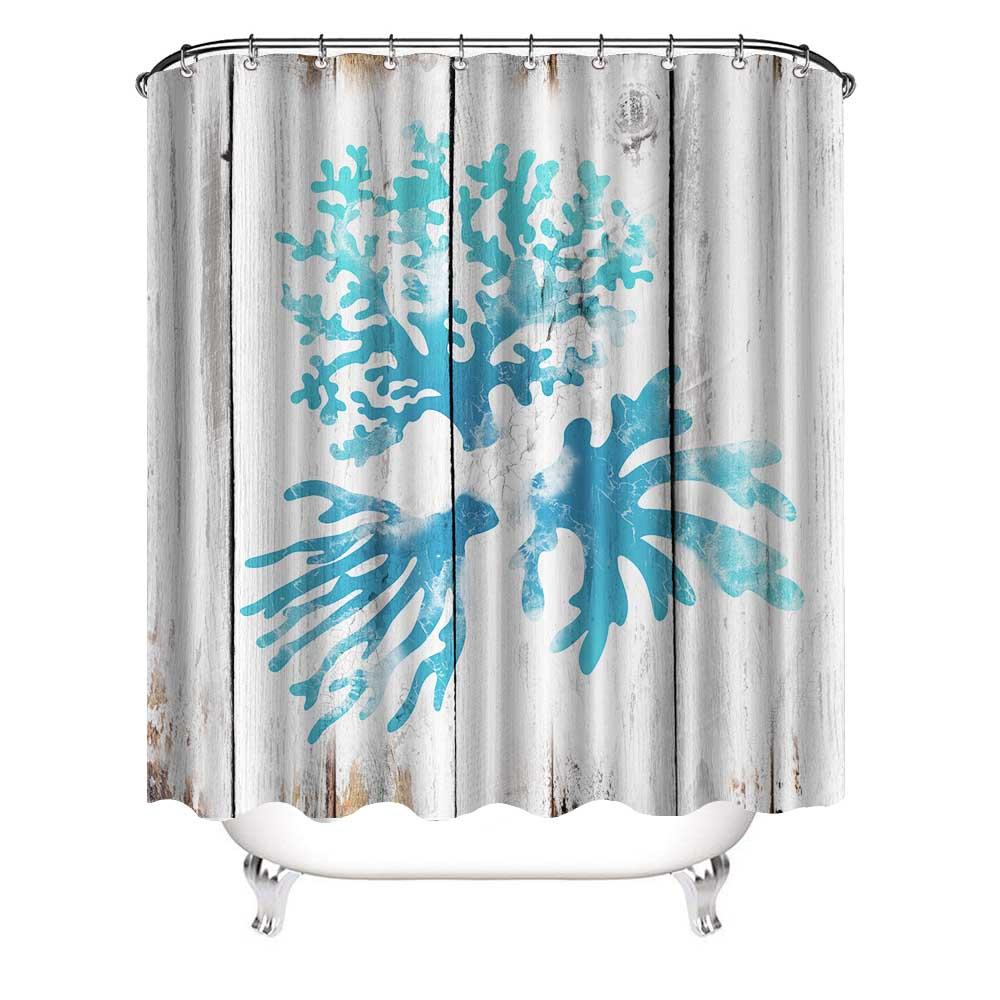 Pour salle de bain et plage D/écoration en coquillage de mer pour rideau de douche Lot de 12 crochets pour rideau de douche en m/étal
