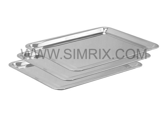 "Mayo Utility Dental Tray Stainless Steel 17.5"" x 13.5"" Stainless Steel Tray"