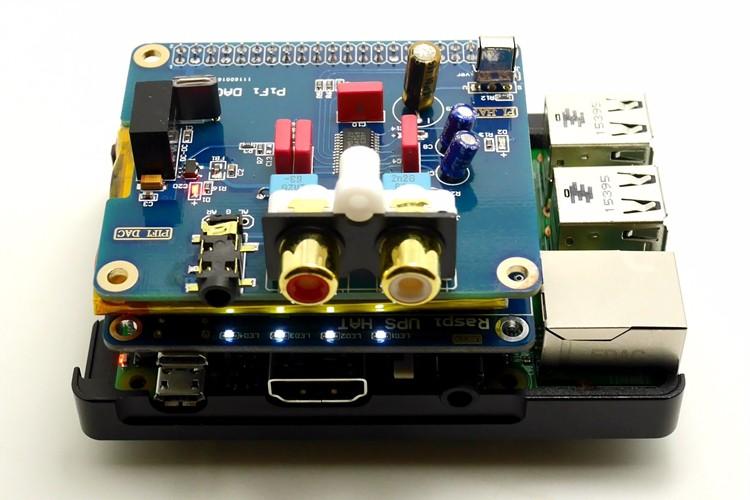 UGEEK UPS HAT Board for Pi 3B/ Raspberry Pi 4 /3B+/3A+/2B/4B/Zero  w|Raspberry Pi Battery Adapter|Power Supply|Power Source Pi 3