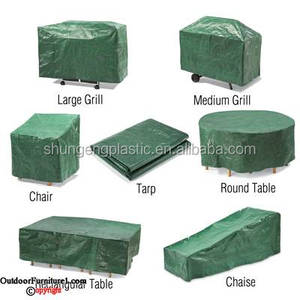 outdoor/patio/garden usage furniture waterproof pe tarp/tarpaulin cover with anti Uv and mildrew