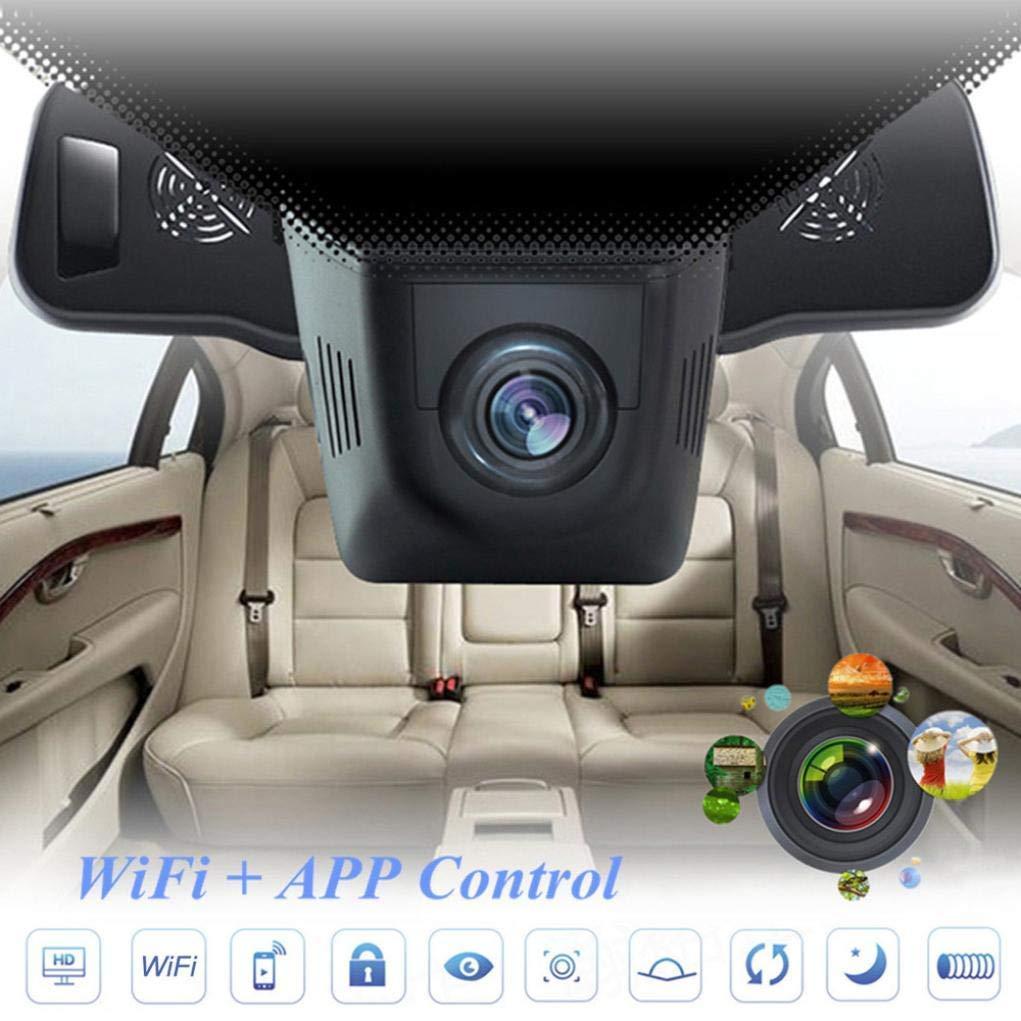 Chezaa Dash Cam Car, Hidden Car HD 1080P WiFi DVR Vehicle Camera Video Recorder Dash Cam Night Vision, 170-degree Wide Angle Camera Lens Camera G-Sensor