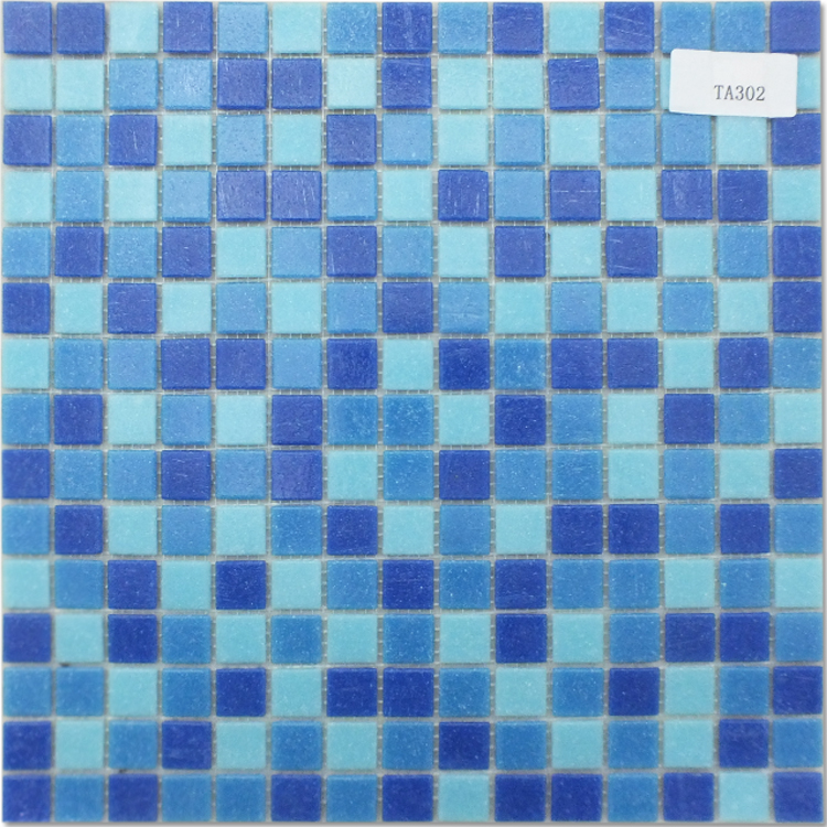 KST Cheap blue color decoration swimming pool tile for glass ceramics crystal mosaic