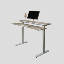 Bestever Ergonomic and Electric Split Work Surface Sit Stand Desk Workstation for Home or Office Furniture