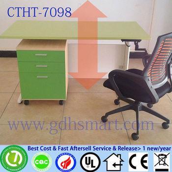 Furniture Poland Inox Manual Crank Table Height Adjustable Study Desk Iron Pedestal