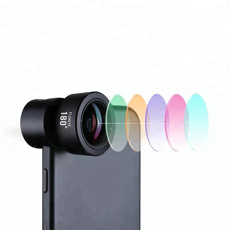 4 in 1 fisheye macro wide angle telephoto lens kit for mobile camera lens